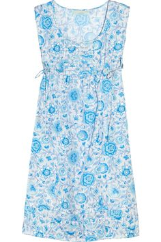 Arles floral-print silk dress by Leaves of Grass
