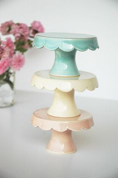 cupcake stands handmade by Jeanette Zeis Ceramics