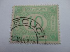 10 Taxa De Plata Romina / Romana / Romania Vintage Postage Stamp