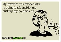 Absolutely my favorite winter activity!