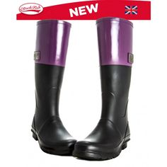 Rockfish Two Tone Zipper Wellies by RockfishWellies on Etsy