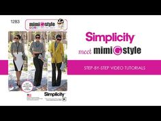 Mimi G Style for Simplicity, Pattern 1283 Tutorial. View A. - YouTube