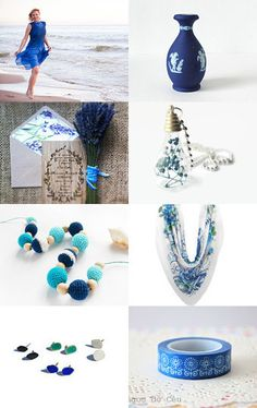Blue Fields by Semi Vintage on Etsy--Pinned with TreasuryPin.com