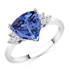 "Tanzanite ring, ""Trillion"" cut.  Love this stone!"