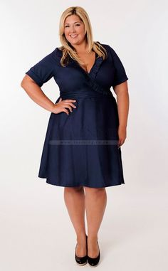 7288e9a3850b6 Stunning Navy Blue Taffeta Plus Size Evening Dress(PSD4E-046) Evening  Dresses Plus
