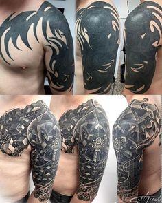 Tattoo by Juan Salgado - maori tattoos Tribal Tattoo Cover Up, Tribal Cover Up, Tribal Art Tattoos, Cover Up Tattoos For Men, Black Tattoo Cover Up, Cover Tattoo, Body Art Tattoos, Tattoos For Guys, Sleeve Tattoos