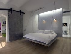 Floating bed by Bernstein Architecture wonder  if this could work or would be comfortable?