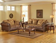 Delightful Get The Luxurious Feel From Our Havana Living Room Group From Woodhaven.  This Group Features Leather Match And Fabric Upholstery, Traditional Styliu2026