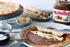Banaan-kokospannenkoeken met Nutella