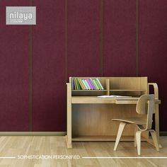 Here's a little secret. If you're looking to give a sophisticated yet welcoming look to your library or office space, purple is the way to go! Try it and tell us what you think.