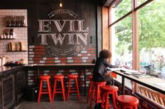 Image result for dark brown walls in coffee shops
