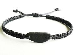 Macrame bracelet with pebble