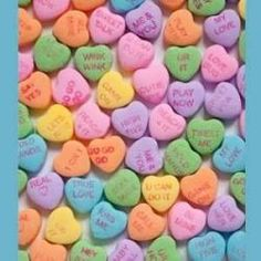 Custom Candy Hearts. Something to give away on V-day for Phi Sig in SU
