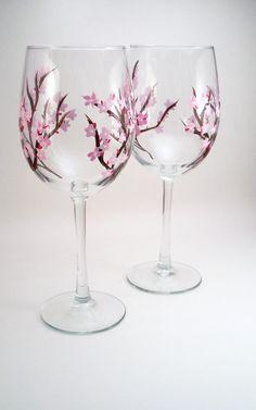 I love these glasses.... love cherry blossoms...