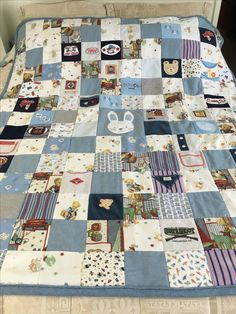 Jacob's baby clothes quilt  Mother's Day gift to Julie