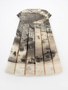"""The map dresses ... represent the wearer's habitat and identity forming an intimate connection with the wearer."" Elisabeth Lecourt"