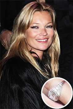 9: Kate Moss Engagement Ring - Also custom made, her fiancee Jamie Hince tried…