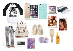 """sleepover"" by princessjace on Polyvore featuring P.J. Salvage, Wet Seal, Uncommon, Forever 21, TOMS, Missguided, Vera Bradley, Eos and Philip Kingsley"