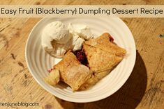 Easy Fruit Blackberry Dumplings Dessert Recipe - obviously not the healthiest recipe, but really good! Summer Dishes, Summer Desserts, Just Desserts, Delicious Desserts, Dessert Recipes, Yummy Food, Yummy Recipes, Yummy Eats, Desert Recipes