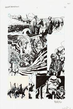 Splash Page Comic Art :: For Sale Artwork :: Hellboy The Wild Hunt by artist Duncan Fegredo