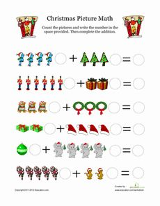 Image result for preschool christmas math worksheets math christmas picture math worksheet ibookread Download
