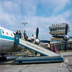 Warsaw airport in 1971 Past, Europe, Polish, Life, Vintage, Historia, Past Tense, Vitreous Enamel