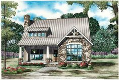 House Plan 110-00984 - Cottage Plan: 1,874 Square Feet, 3 Bedrooms, 2 Bathrooms