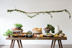 Grazing table by Otho's Table. Trestle table by Timbermill. Photo by Luisa Brimble