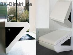 SET Waschtisch WC und Urinal mit Deckel LaFontana Original ArtCeram weiß schwarz | Heimwerker, Bad & Küche, Badkeramik | eBay!
