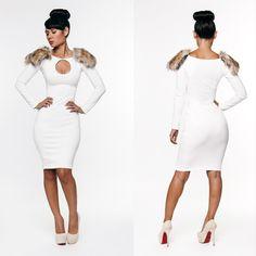 Kimi Kouture white fabolous dress