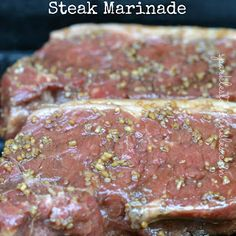This Worlds Best Steak Marinade recipe is a mix of savory and a hint of sweet making it the very best. Perfect for any red meat. Flank Steak Rolls, Rinder Steak, Marinated Flank Steak, Best Steak, Marinade Für Steaks, Steak Marinade Recipes, Beef Recipes, Cooking Recipes, Recipies