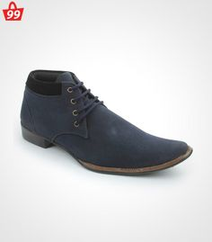 Step in #Style with ultimate pick of this season when you adorn this pair of Bacca Bucci Suede Leather Blue Casual Shoes