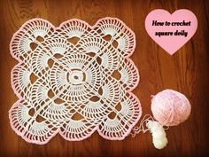 Square Doily Placemat - Part 3 - YouTube