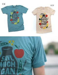 love the vintage look of these tees. perfect for casual wear. i would definitely get one if i lived in michigan!