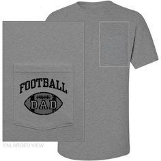 Football Dad - name and number on back - pocket
