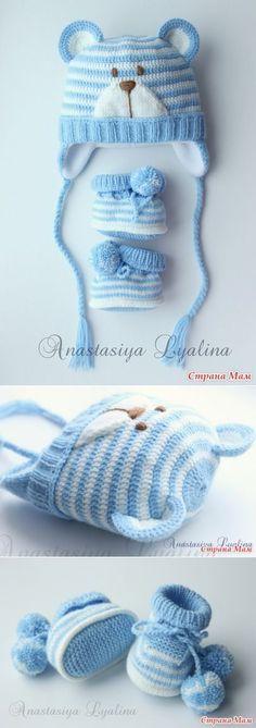 ideas for crochet baby socks pattern free Crochet Baby Sweater Pattern, Crochet Baby Socks, Bonnet Crochet, Baby Sweater Patterns, Crochet Slippers, Crochet Beanie, Crochet Hats, Knitted Baby, Free Crochet