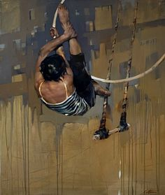 COSTA DVOREZKY, Hoop Rehearsal 2012, huile sur toile / oil on canvas