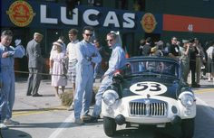 The Whitmore/Olthoff/Morrill MGA in the pit lane of the 1962 Sebring 12H race. They would go on to finish 20th and 6th in GT1.6 class. Entries invited for our Spa 3 Hour race 23, 24 &25 June 2016. Find your details @ http://legendary-circuits.eu/spa-3-hours/ << click here.