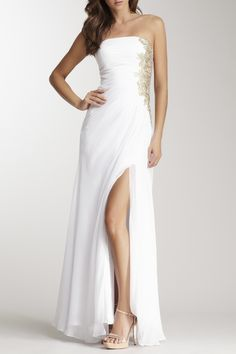 Strapless Embellished Gown by La Femme on @HauteLook
