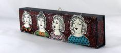 Collagen - Nadelkunst / Schachtelweiber - ein Designerstück von mARTinahaussmann bei DaWanda