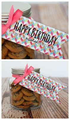Free printable birthday treat tag via eighteen25.blogspot.com. Nx
