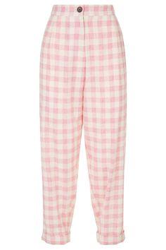 Cosima Baggy Boyfriend Trousers in Pink Check Kawaii Fashion, Cute Fashion, Modest Fashion, Fashion Outfits, 2000s Fashion, Fashion Hacks, Fashion Tips, Pink Outfits, Pretty Outfits