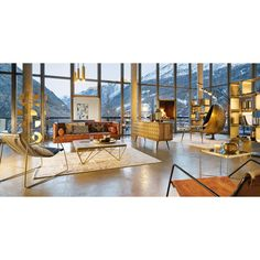 Wit katoenen kussen met goudkleurig grafisch motief 40x60 | Maisons du Monde