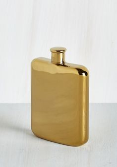 Taste of Luxury Flask. Cheers to the fancy sipping that's in your future with this stately flask. #gold #modcloth