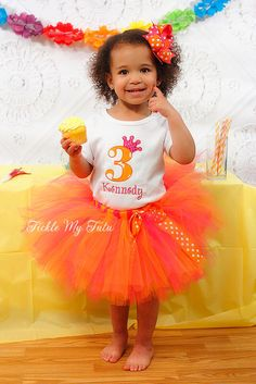 Hot Pink and Orange Polka Dot Number Crown Birthday Tutu Outfit by TickleMyTutu on Etsy https://www.etsy.com/listing/94668589/hot-pink-and-orange-polka-dot-number