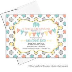 Invitaciones de la ducha del bebé neutral | ducha de bebé elefante invita a…