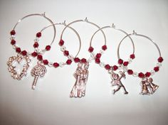 CUPID. Valentines Wine Glass Charms Love by ElizabettaJewellery