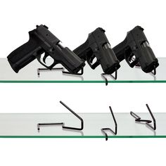 Use our gun shop display products to show off your gun shop inventory or gun collection with professional and secure display products from Gun Storage Solutions Gun Safe Accessories, Shooting Accessories, Shop Display Stands, Gun Storage, Slat Wall, Airsoft Guns, Guns And Ammo, Storage Solutions, Hand Guns