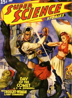 """Super Science Stories""""Day of the Comet"""" (July 1940)"""