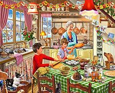 Amazon.com: White Mountain Puzzles Christmas at Grandma's-1000Piece Puzzle-Designer: Steve Crisp: Toys & Games 2000 Piece Puzzle, Christmas Jigsaw Puzzles, Craft Shed, Young Lad, Image 3d, Grandma Gifts, Pictures To Paint, Christmas Treats, 500 Piece Jigsaw Puzzles